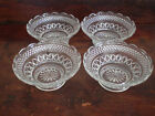 Anchor Hocking Wexford 4 Scalloped Edge Bowls - 6