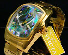 Invicta GRAND LUPAH Special Edition18K GP Abalone Dial Chrono S.S Bracelet Watch