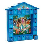 Kurt Adler Wooden Christmas Nativity Advent Calendar 14 Inch