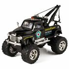 Black 1953 Chevy Off Road Wrecker Die Cast Tow Truck Toy with Monster Wheels
