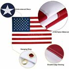 4x6 Nylon Waterproof Embroidered Stars Sewn Stripes Heavy Duty US American Flag