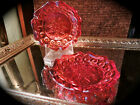 Vintage Moon and Stars Amberina Ash Trays set of 2