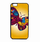 Phone Case Butterfly Ombre Print Pattern iPhone 4 5 6 7 Plus Galaxy S6 S7 S8 Not