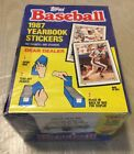 1987 Topps Baseball Yearbook Stickers Unopened Box - still in cellophane