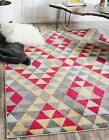 Geometric Modern Area Rug Contemporary Colorful Multi Checked Carpet