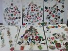 Lot Vintage Modern Christmas Buttons Holiday Santa Trees Ornaments Scrap Book