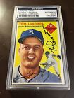 1954 TOPPS TOM LASORDA #132 PSA DNA ROOKIE AUTOGRAPH HIGH END