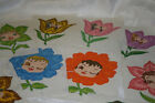 43 Vintage 2001 PAINTED FLOWER GIRL BABY FACE QUILT BLOCKS + More