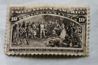 us used postal Scott 237 10 cent black brown Columbian Exposition L2