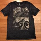 I Jeans By Buffalo Vintage Ultra Thin Graphic T Shirt Motorcycle Black Large