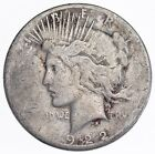 Early 1922 S Peace Silver Dollar 90 US Coin 058