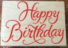 Hero Arts HAPPY BIRTHDAY Wood Mounted Rubber Stamp Large G211 Obo