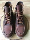 Red Wing Leather Boot Copper Rough Moc Style 1907 size 105 D