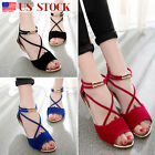Womens Sandals Strap Beach Flat Shoes Casual Open Toe Wedges Ankle Flip Flops