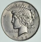 Early 1922 Peace Silver Dollar 90 Silver US Coin 168