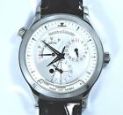 Jaeger Lecoultre Master Geographic Auto. 142.8.92 Power Reserve 38mm New Strap!