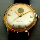 X CLEAN 14K GOLD 1959 HAMILTON 18-JEWEL WIND UP. SUPERB IN AND OUT. HEAVY CASE.