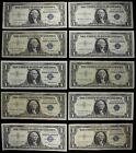 B silver certificates one dollar FREE SHIPPING $10 FV