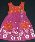 Childrens Place NEW Fuchsia Pink Orange Floral Sun Dress  Panties Girls Sz 12M