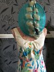 Monsoon Parrot Tropical Flowers Cotton Dress Only Size 8 Immac Hols 11.9-18.10