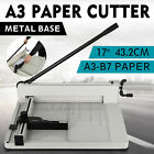 Heavy Duty Guillotine Paper Cutter 17 Commercial Metal Base A3 A4 Trimmer