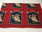 Cranston Print Works O Holy Night Red Blue Xmas Nativity Panel Print Fabric 3+ Y