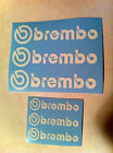 Brembo Brakes Replacement Vinyl sticker decal Set of 6 two sizes for brakes