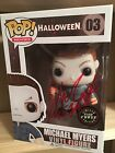 Michael Myers CHASE Funko POP Nick Castle Signed AUTO Halloween LE Glow in Dark