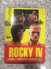 1985 TOPPS ROCKY IV (4) TRADING CARD BOX OF 36 SEALED WAX PACKS VINTAGE!!