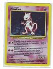 PKEMON BASE SET ONE MEWTWO HOLO RARE #10/102 NEAR MINT !!!