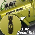 Side Hood Decal Kit for Jeep Wrangler F bomb Matte Black Sticker TJ LJ JK