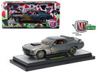 1970 Ford Mustang Boss 429 Charcoal Metallic with Flames 1 24 Diecast Model