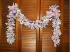 EASTER SPRING RAG GARLAND, 6 feet,Pastel,Eggs,Carrot, Homespun, Country, Shabby
