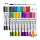 DUAL TIP BRUSH MARKERS 36 Pack Adult Coloring Calligraphy Pen Marker Pens Set