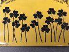Cling mounted rubber stamp SHAMROCKS St Patricks Day USA made