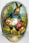 Vintage Paper Mache EASTER EGG 3x25 STOIC HARE Mint Sealed GERMAN Made