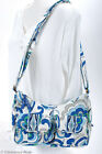 Vera Bradley Blue Quilted Cotton Crossbody Shoulder Bag Front Pockets Cute 6882