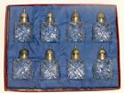 Leonard Crystal Salt Shakers with Silverplate Tops8 in Box