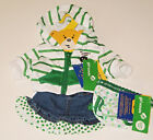Build a Bear Girl Scout Thin Mint Cookie Hoodie Denim Skirt Undies Teddy Outfit