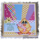 Easter Chick Greeting Card Premade Paper Piecing Embellishment Die Cut by Babs
