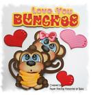 Love You Bunches Set Premade Paper Piecing Embellishment Die Cut by Babs
