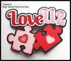 Love You Title Premade Paper Piecing Embellishment Die Cut by Babs