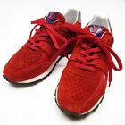 Auth Louis Vuitton Run Away Sneaker Size 351 2 Red Suede Enamel h17045