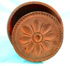 Antique 19th c Hand Carved wooden Butter Mold / Stamp Flower pattern
