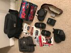 CANON Rebel EOS T1i Camera 18 55 and 55 250 Zoom Lenses Fish Eye Battery Bundle