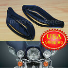 Black Adjustable Side Wing Air Deflectors Fairing For Harley Classic FLHT 96 13