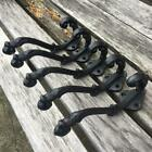 5 * Home Decor Cast Iron Vintage Style Coat Hooks Hat Hook Rack Hall Tree Flower