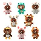 Cosplay Brown Bear with Suit Cuddly Plush Toy Stuffed Doll Keychain Keyrings