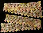 Lovelly Two White Yellow Pink Crochet Laces, Trims, Edgings 15