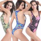 SWIMMART Racerback High Cut Bottom Various Prints One-Piece Bathing Suit Swimsui